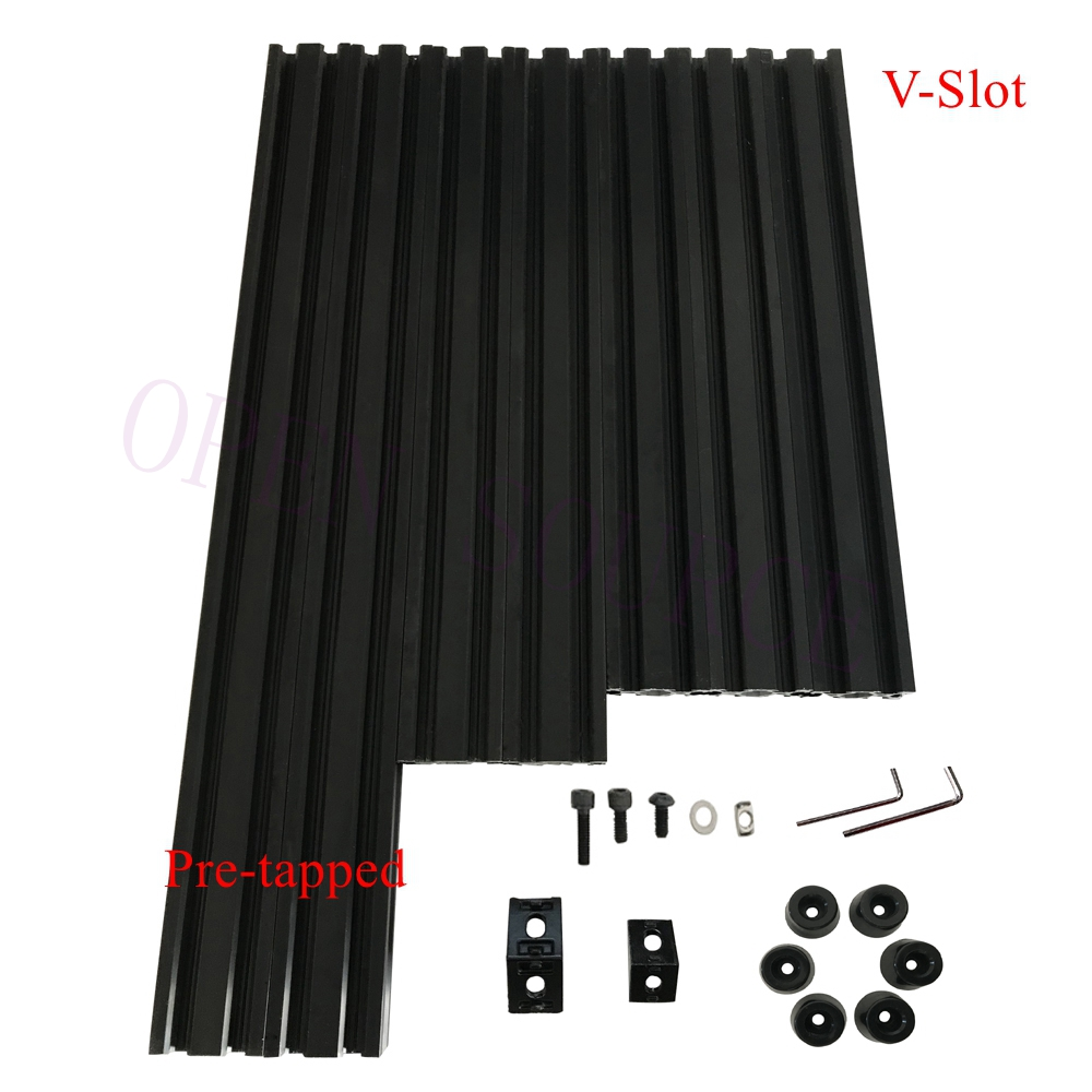 Free Fast shipping Pre tapped Black V Slot AM8 3D Printer Aluminum Extrusions Metal Frame Full