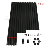 Free Fast shipping  Pre-tapped Black V-Slot AM8 3D Printer Aluminum Extrusions Metal Frame Full Kit   upgrade Anet A8