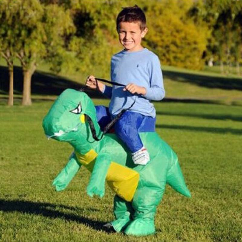 7 to 10 years old Children Dinosaur Inflatable Kids Costume Halloween Costume For Kids christmas costumes Apparel & Accessories
