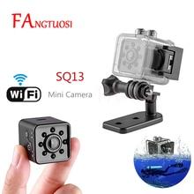 FANGTUOSI SQ13 와이파이 소형 미니 카메라 캠 HD 1080P 비디오 센서 나이트 비전 카메라 마이크로 카메라 DVR 모션 레코더 캠코더