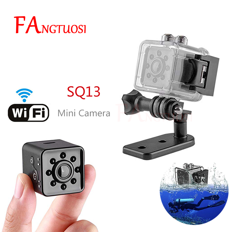 все цены на FANGTUOSI SQ13 WIFI small mini Camera cam HD 1080P video Sensor Night Vision Camera Micro Cameras DVR Motion Recorder Camcorder онлайн