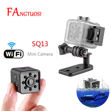 Fangtuosi mini câmera sq13, wi fi, hd 1080p, sensor de vídeo, visão noturna, micro câmeras dvr, gravador de movimento camcorder