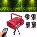 Venta caliente RED Mini R & G Auto/Voz de Navidad DJ Disco Láser Etapa Proyector de Luz LED con Control Remoto controlador