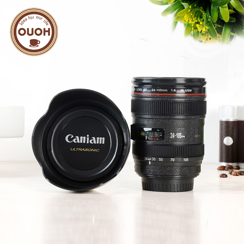 Camera Lens Cup 24-105mm 1:1 Scale Special Present Plastic Milk Beer Coffee Tea Mug Cup 400ML Creative Cups and Mugs M103 MUG-03