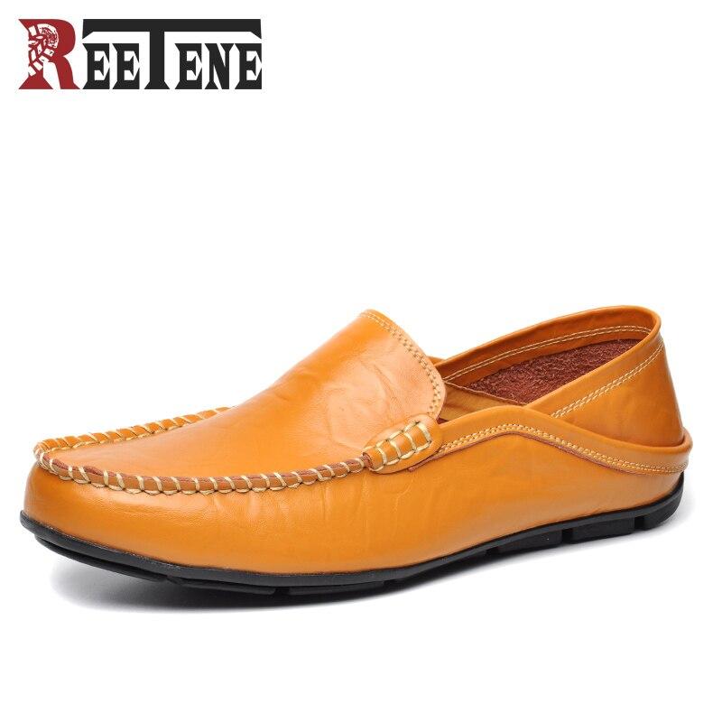 Plus Size 45 46 100 Genuine Leather Men Loafers Comfortable Casual Shoes Men Fashion Men Shoes