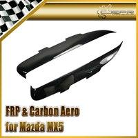 Car styling FRP Fiber Glass Eyebrow Eyebrows Eyelid Fit For Mazda MX5 NC