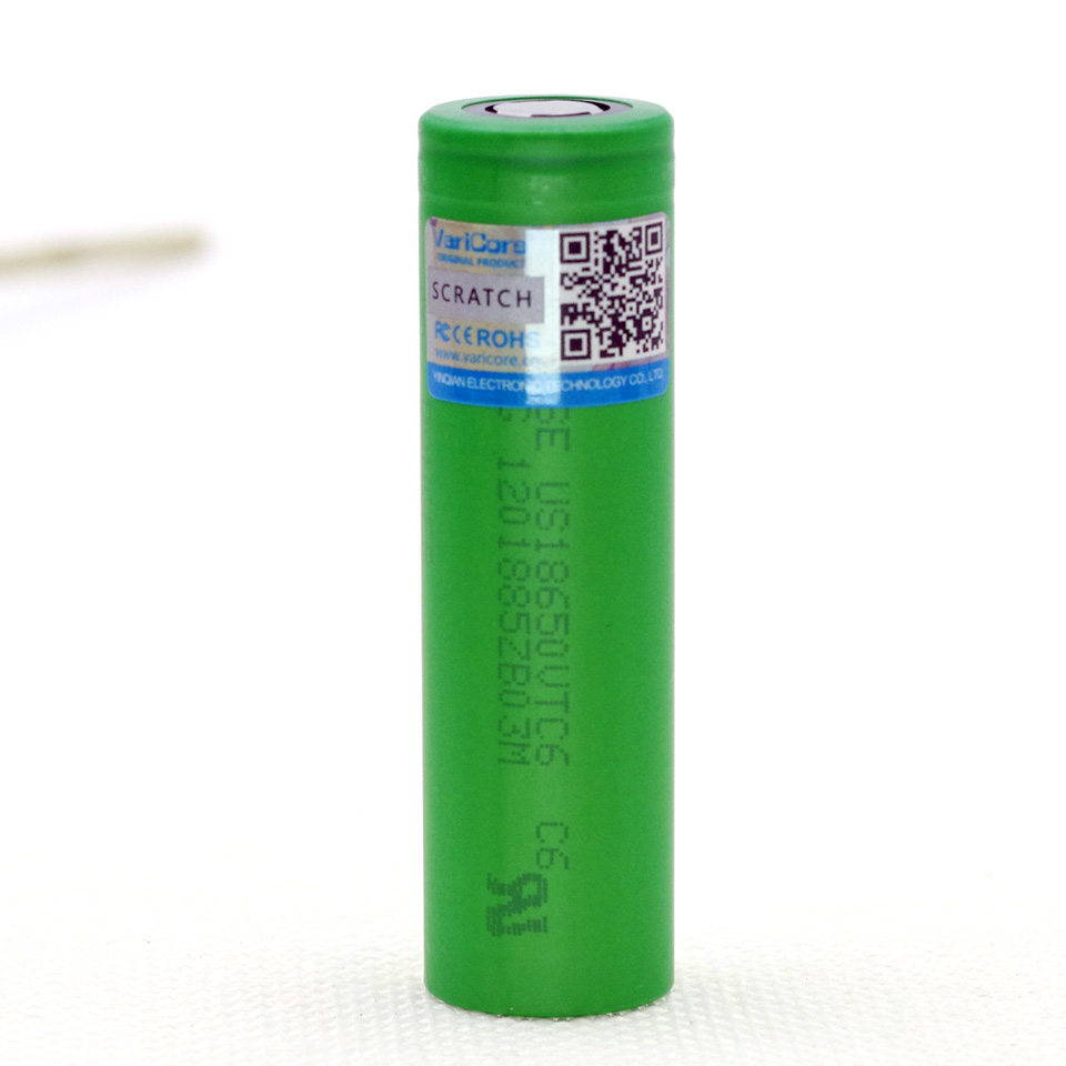 VariCore VTC6 3.7V 3000 mAh 18650 Li-ion Battery 30A Discharge for US18650VTC6 Flashlight Tools e-cigarette batteries new 10pcs vtc6 3 7v 3000mah rechargeable li ion battery 18650 for sony us18650vtc6 30a electronic cigarette toys tools flashligh