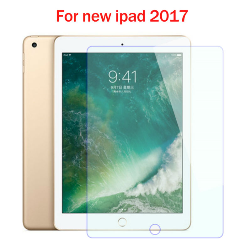 Top quality 9H Tempered Glass For Apple New iPad 2017 9.7 inch Screen Protector Film Hard Cover For iPad 9.7 2017 Tempered Glass
