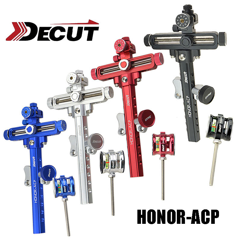 DECUT 1 Set Compound Bow Sight Stand Aluminum Alloy Archery Bow Accessory Black for Shooting 4x/6x/8x