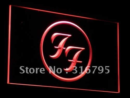 c031 Foo Fighters Rock n Roll Punk Bar Light Sign