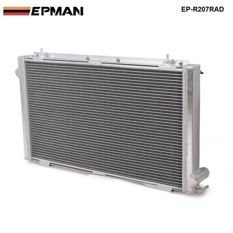 EPMAN-Performance Radiator Manual aluminum 42mm2 Row For 92-00 SUBARU IMPREZA WRX/Sti GC8 EP-R207RAD epman intercooler y pipe hose kit for subaru wrx sti gdb ggb 2 0 00 07 ver 7 9 3pcs ep sbt007