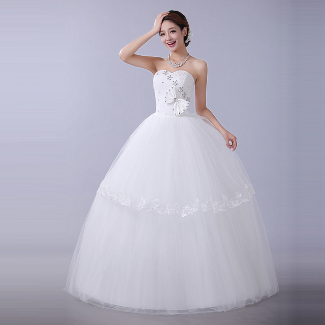 New arrival Winter Cheap wedding dress 2014 sweet princess white ...