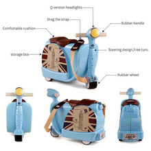 BEI JESS indoor and outdoor suitcases can ride three-wheeled motorcycle toys 3-year-old children grow new Christmas gift