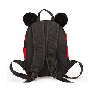Image 4 - 2019 yeni Mickey Mouse Minnie şekli kız erkek sırt çantası çocuk çantası okul karikatür çocuk sevimli anaokulu kreş kitap çantası hediye