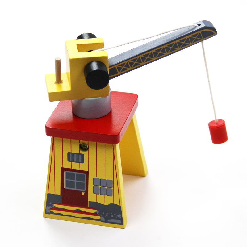 Thomas and Friends-Two Side Crane Thomas Wooden Train Track Railway Accessories Move Crane House Tender Educational Slot DIY