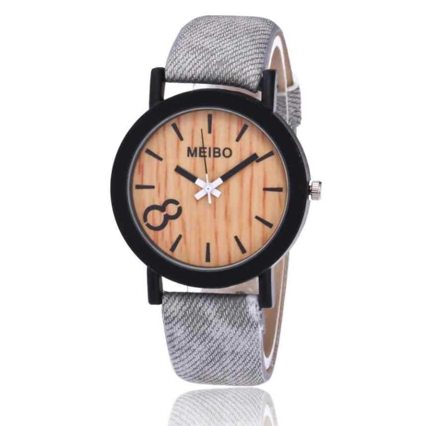 2019 reloj de cuarzo de madera para hombre, reloj de cuero de Color de madera, reloj de pulsera de cuarzo analógico para dropshipping
