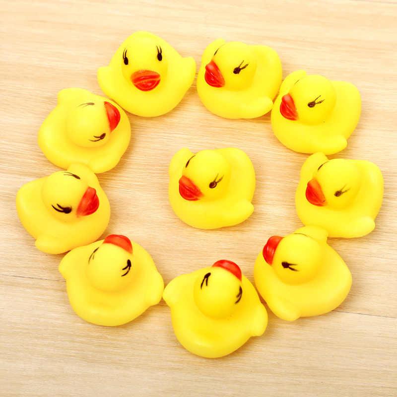 20 шт. резиновые утки Duckie детские игрушки для душа для маленьких детей детские подарки на день рождения игрушка в подарок
