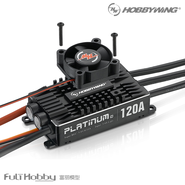Hobbywing Platinum Pro V4 120A 3 6S Lipo BEC Empty Mold Brushless ESC for RC font
