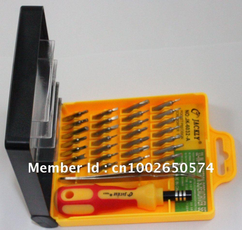 buy screwdriver set tool kit magnetic head 32pcs set jackly jk 6032 a 32in1. Black Bedroom Furniture Sets. Home Design Ideas