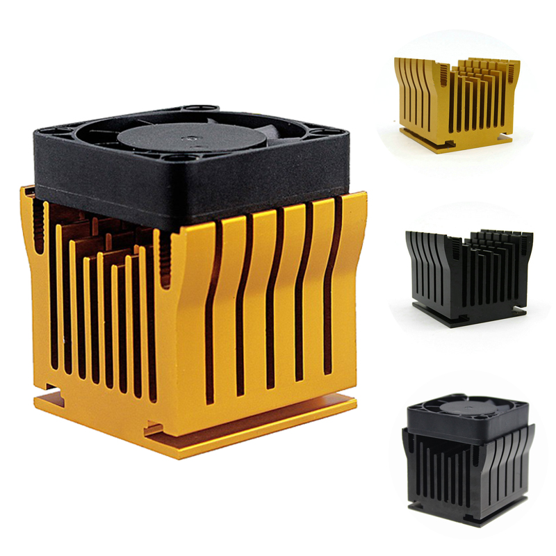 1 Pieces Aluminum Cooler Heatsink DIY Northbridge Golden Black Heat Sinks Cooling