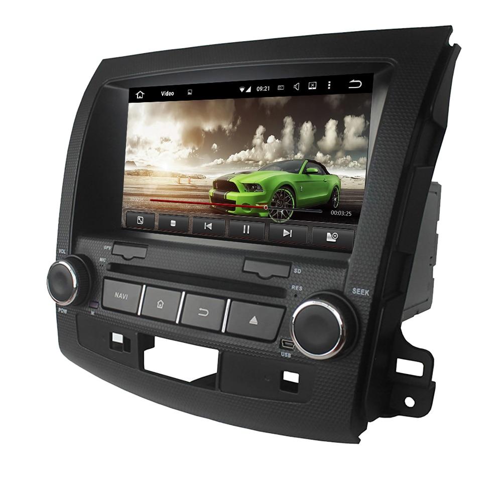 Android 7.1 voiture dvd GPS pour Mitsubishi Outlander 2006-2012 radio gps wifi 3G Miroir lien livraison carte et caméra de recul