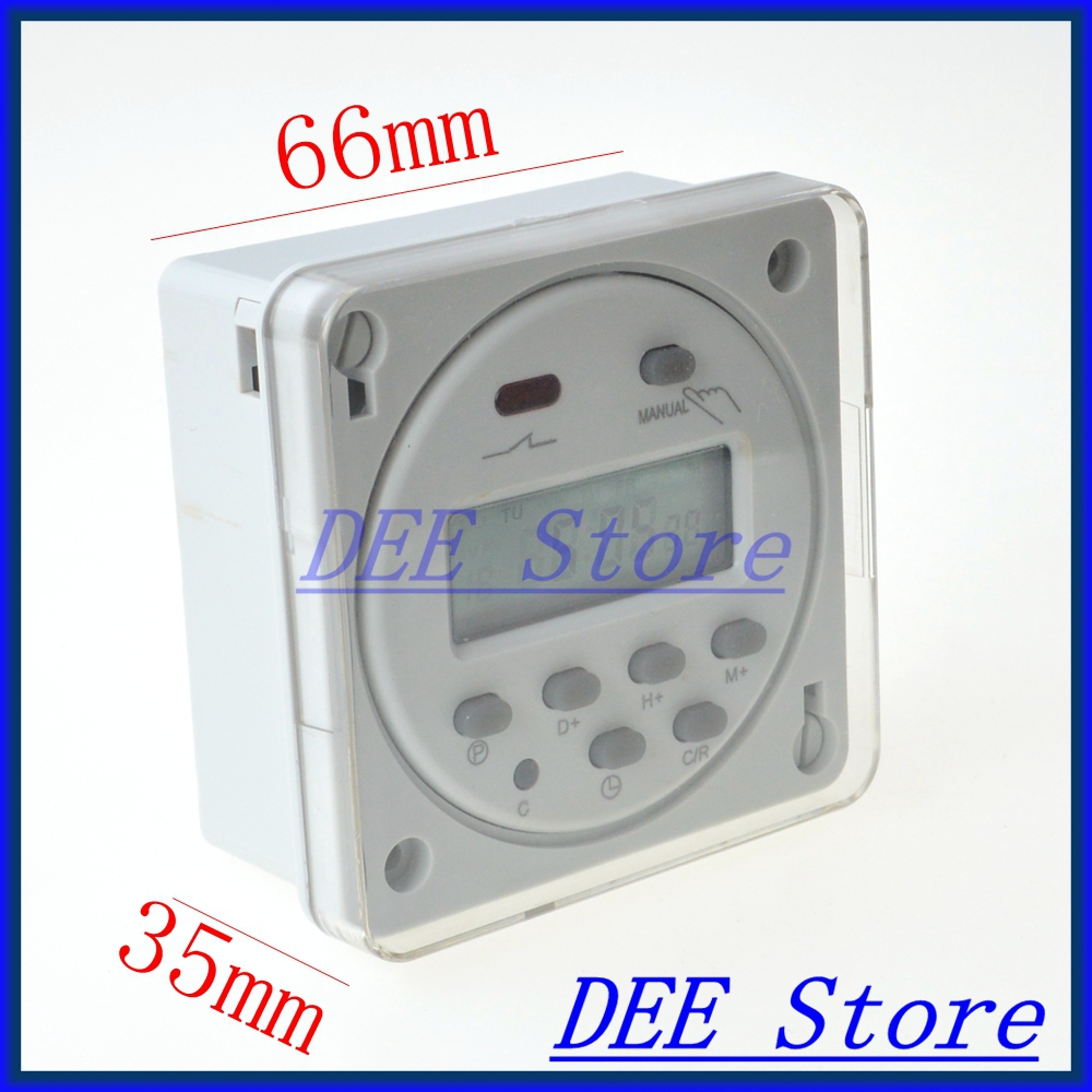 220V 16A Programmable Timer switch Time Relay with protective cover Free shipping 50%off men shoes summer eva massage foam beach flat sandals non slip bathroom household room indoor home house shoes