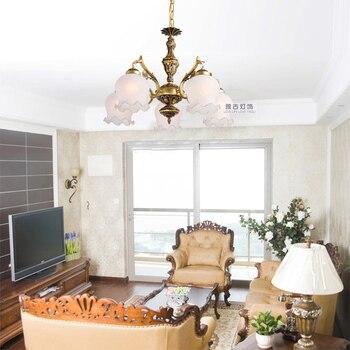 Cor bronze luz pingente pingente de luz lâmpada quarto sala de jantar pingente luz rústico iluminação ZX56