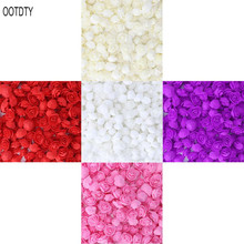 500pcs Mini PE Foam Artificial Rose Flowers Heads Wreath DIY Candy Box Material Bear Handmade Wedding Home Decoration недорого