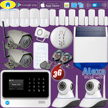 Golden Security 2018 Full Kit Compatible with Alexa WIFI 3G GSM Alarm system Wireless Home Security APP Control Multi Language