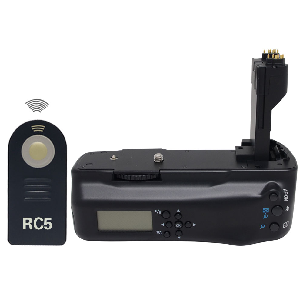 Mcoplus LCD Batterie Grip pour Canon 5D Mark II 5DII appareil photo REFLEX + RC5 Télécommande