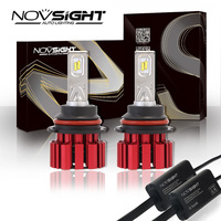 High Quality NOVSIGHT 9007 HB5 Hi Lo Beam 40 43W 6800LM Auto Car LED Headlights Fog