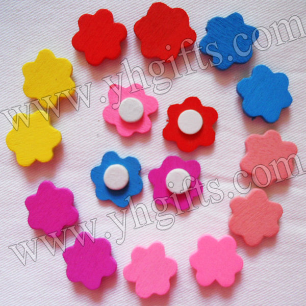 1000PCS/LOT.Mixed Wood flower stickers,Kids toys,scrapbooking kit,Early educational DIY.Kindergarten crafts.Classic toys.,18mm