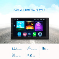 Android car stereo 6.0.1 Car Radio Multimedia Player 2din GPS Navigation WiFi Support OBD DAB and RDS Radio Function Subwoofe