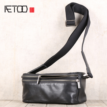 AETOO Head cowhide single shoulder oblique cross bag leather some bag male and female