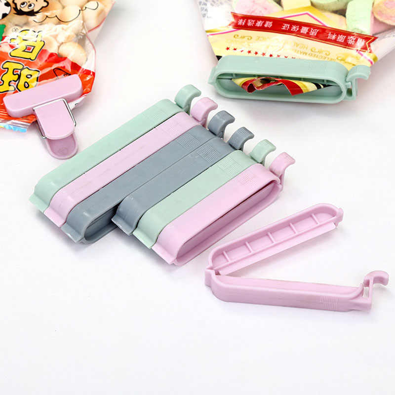 12Pcs/lot 4Sizes Portable New Kitchen Storage Food Snack Seal Sealing Bag Clips Sealer Clamp Plastic Tool