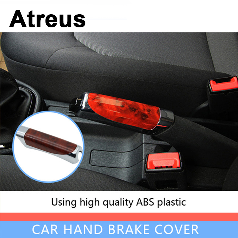 Atreus Car Styling Automobile Handbrake Grips Sticky Covers For Mercedes Benz W204 W203 W211 AMG Mini Cooper Skoda Octavia A5