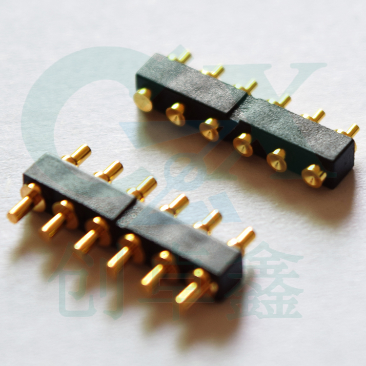 цена на female male 6pin 2.0*7.5mm SMT pogo pin connector gold plating pogo pin connector for smartphone