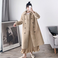 2019 New Autumn Winter Thick Long Women Fur Coats+belt Elegant Women Real Fur Coat Female Sheep Wool Jackets A146