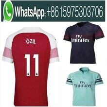 170093d91 Arsenal Gunners soccer jersey 2018 2019 AUBAMEYANG MKHITARYAN OZIL JERSEY  18 19 LACAZETTE XHAKA TORREIRA football