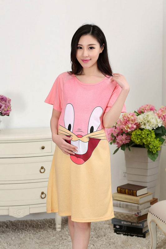 def589841ab17 Rose Red Hello Kitty Maternity dresses for summer pregnant women clothes  dress pregnancy dresses breastfeeding clothes