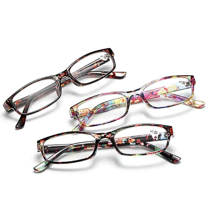 Fashion Reading Eyewear Women Presbyopic Glasses Floral Frame Personality Diopter+1.0~+4.0