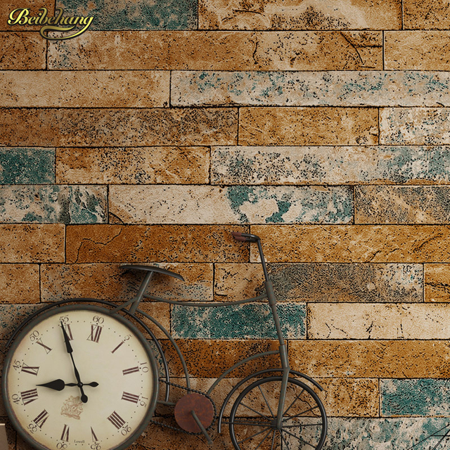 Beibehang 3d Brick Wallpapers Antique Wallpaper Chinese Nostalgia Restaurant Hotel Backdrop Retro Vintage