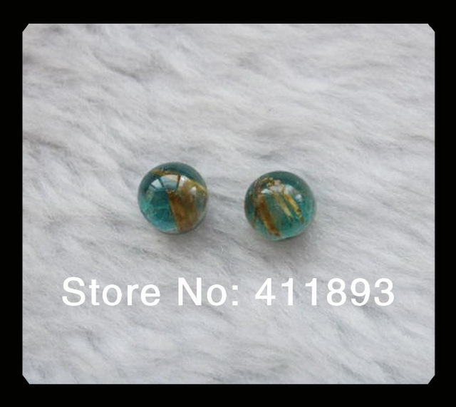 Gold Rutilated Quartz Chrysocolla Intarsia  Cabochon Pairs ,Gemstone Cabochons,7x5mm,1.22g