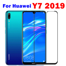 1 2pcs protective glass for huawei y7 2019 safety glass hauwei huavei y7 pro 2019 y7pro 7y y 7 y tempered glas front film trem