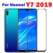 Vidro protetor para huawei y7 2019, vidro de segurança para huawei huavei y7 pro 2019 y7pro 7y, 1 2 peças trem de filme frontal temperado 7 y