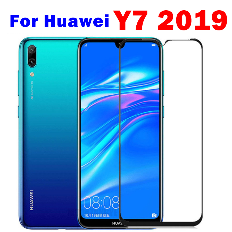 Protective Glass On For Huawei Y7 2019 Safety Glass Hauwei Huavei Y7 Pro 2019 Y7pro 7y Y 7 Y Tempered Glas Phone Front Film Trem