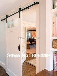 DIYHD 150 см-244 см рустикальная черная винтажная оборудование для раздвижной двери сарая анкотический стиль, раздвижная дорожка, оборудование
