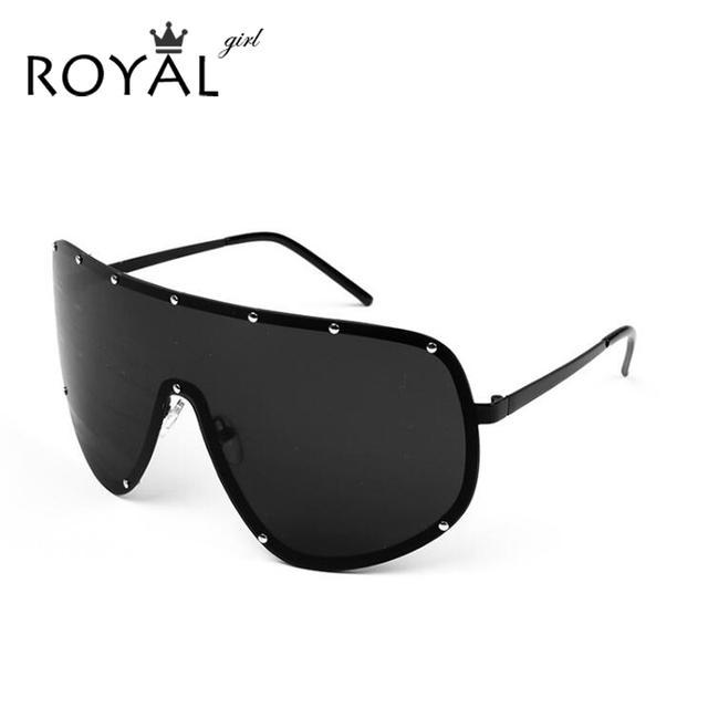 Royal girl rosto dos homens polarizados óculos de sol das mulheres de grandes dimensões óculos sun shades óculos grandes declaração ss061