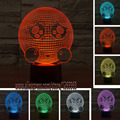 HOT Novelty 3D Creative Poor Expression LED Colorful Touch Night Light For Kids Gift Home Bedroom Livingroom Party Cafe Bar Lamp