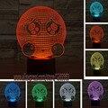 HOT Novidade 3D Criativo Expressão Pobre Colorido LEVOU Toque Noite luz Para O Presente Dos Miúdos Para Casa Sala Quarto Partido Cafe Bar lâmpada